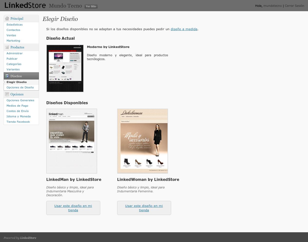 Diseño profesional en tu tienda online de Tiendanube