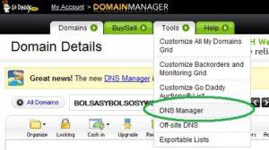 Godaddy - Entrara al administrador de DNS