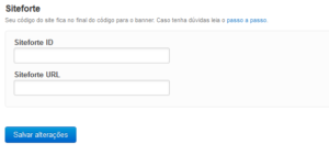 Captura de tela com o pedido de código para logar no Site Forte