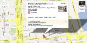 Resultados de Búsqueda en Google Maps