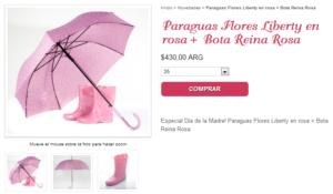 Paquete de productos de la tienda online De Reinas y Princesas