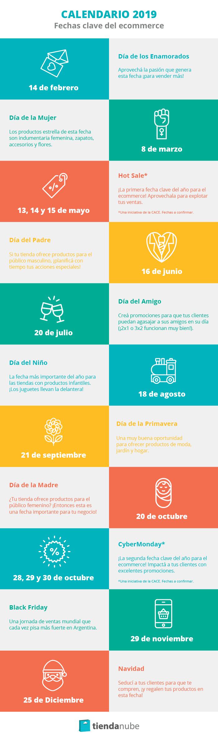 Calendario ecommerce 2019