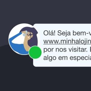 """Mensagem de bom atendimento com convite proativo em um chat: """"Olá! Seja bem-vindo a www.minhalojinha.com.br. Obrigado por nos visitar. Está buscando algo em especial hoje?"""""""