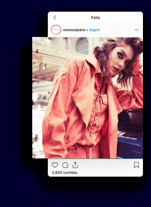 exemplo de post no instagram