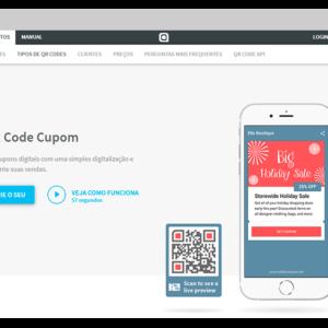site gerador de cupom de desconto qr code