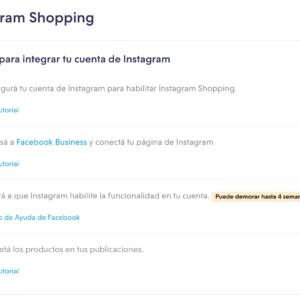 Versión 1- Instagram Shopping