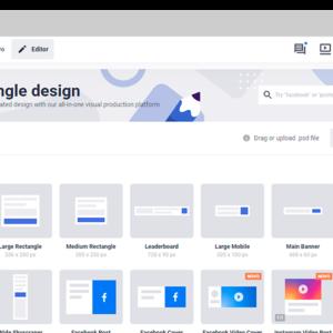 Captura de tela da ferramenta BannerSnack, para criar banner grátis