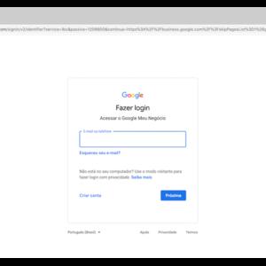 Página de cadastro do Google Meu Negócio