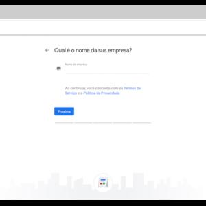 Página para encontrar o seu negócio no Google My Business