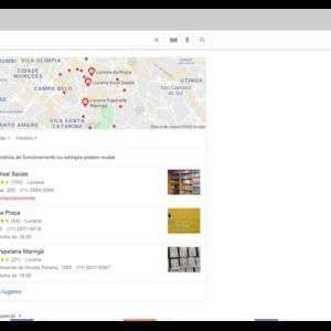 Página de buscas do Google