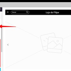 Captura de tela da página em que o usuário seleciona as cores da loja virtual no administrador Nuvemshop