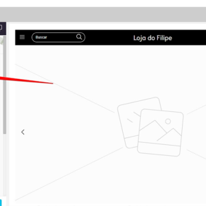 Captura de tela da página indicando onde inserir o logotipo