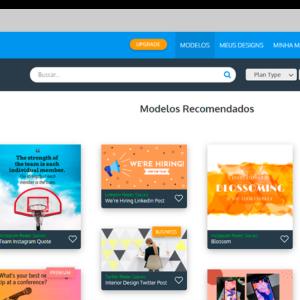 Captura de tela da ferramenta Venngage, para criar banner grátis