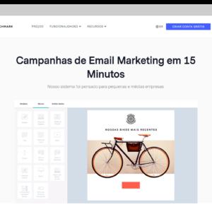 Captura de tela da ferramenta de e-mail marketing grátis Benchmark