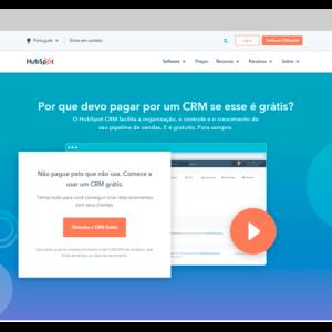 Captura de tela da ferramenta de e-mail marketing grátis HubSpot