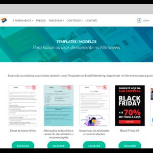 Captura de tela da ferramenta de e-mail marketing grátis Nitronews