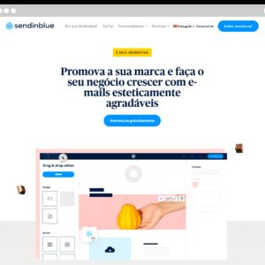 Captura de tela da ferramenta de e-mail marketing grátis Sendinblue