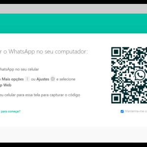 exemplo da tela do whatsapp web