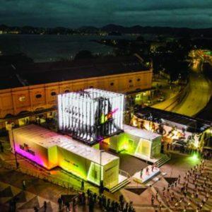 Vista aérea da pop-up store da Nike, a Rio Sem Limites