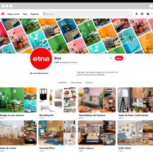 Captura de tela da Etna, exemplificando como vender no Pinterest