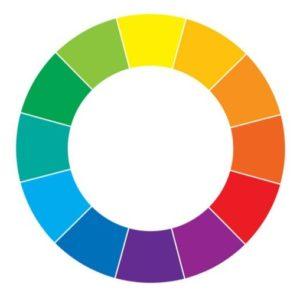 Imagem mostrando um círculo cromático.