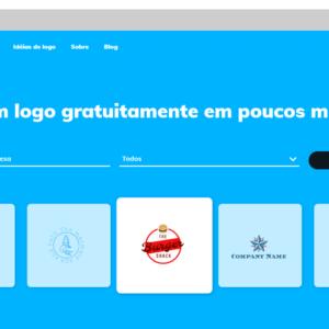 Captura de tela da ferramenta FreeLogo Design