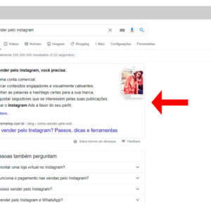 Captura de tela do featured snippet no Google