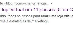 Captura de tela de um resultado do Google, evidenciando o título SEO