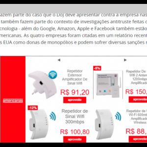 Imagem mostrando o exemplo de um anúncio na rede de display.