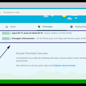 Imagem mostrando o exemplo de um anúncio no Gmail.