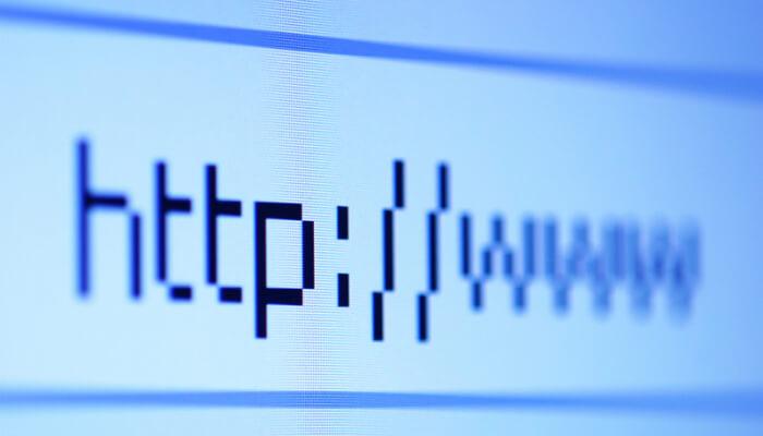 Captura de tela de uma barra de endereços no navegador, representando como personalizar a home
