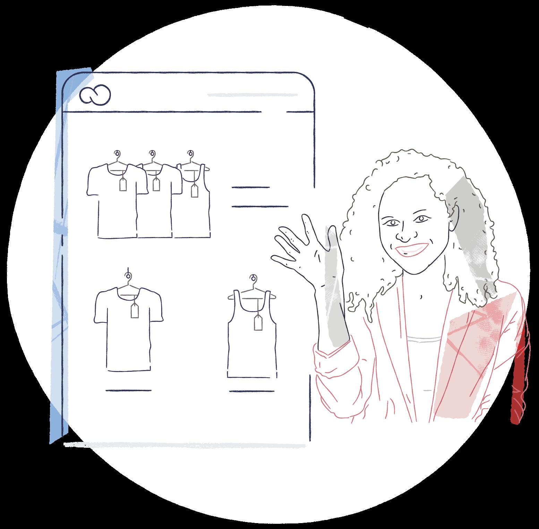 Ilustración tienda en línea