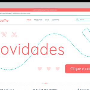 Imagem mostrando o layout da loja ApliqueMe