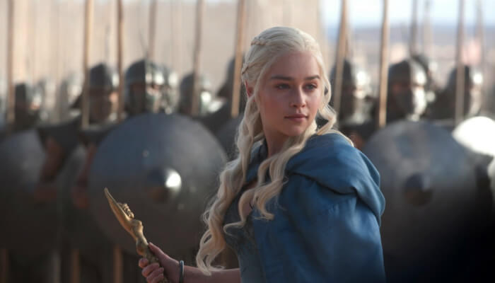 Personagem Daenerys Targaryen, de Game of Thrones, representando os bons líderes