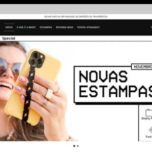 Imagem mostrando o layout da loja Migs