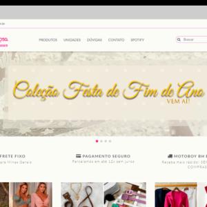 Imagem mostrando o layout da loja Pimenta Rosa