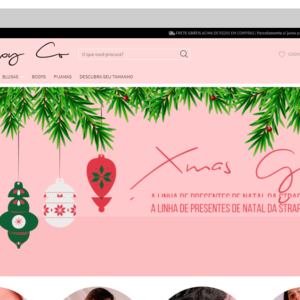 Imagem mostrando o layout da loja Strappy Co