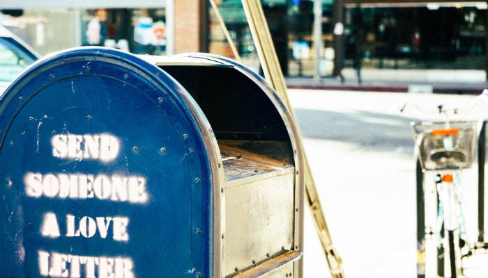 Caixa de correio para envios na rua