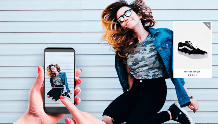 Búsqueda visual de moda en smartphone