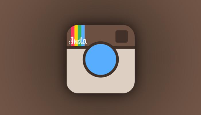 Logo antigo do Instagram representa como editar fotos