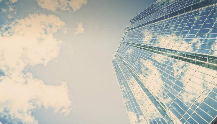 Prédio comercial representa as categorias de empresa