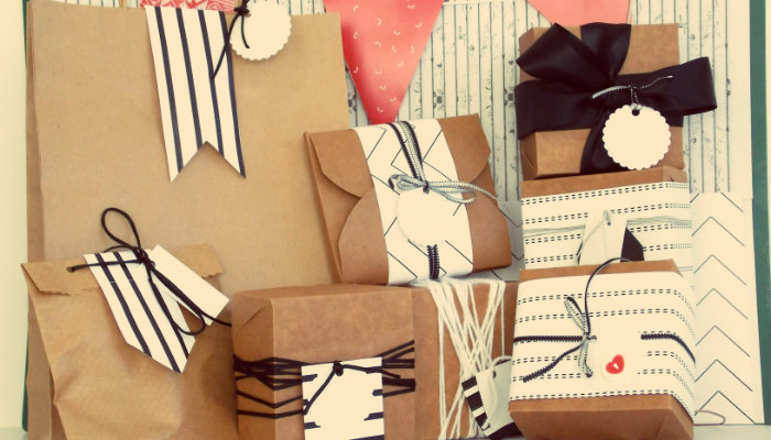 Caixas de presente representam como embalar artesanato