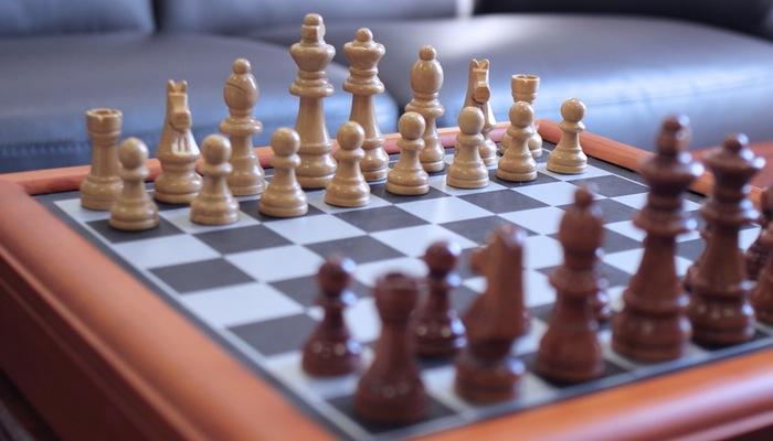 Tabuleiro de xadrez representa a estratégia de negócio