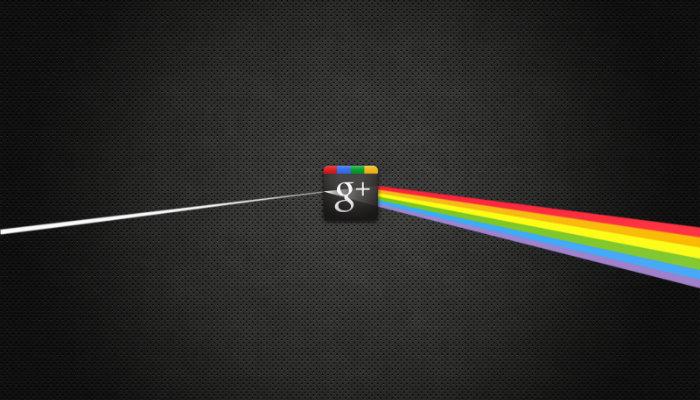 Ilustração com logo do Google Plus