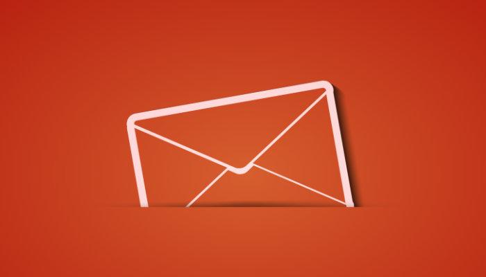 Ilustração de envelope representa a newsletter para ecommerce