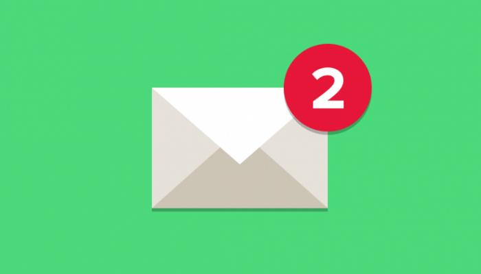 Ilustração de envelope de e-mail marketing