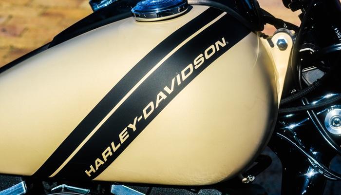 Foto da marca Harley-Davidson em moto, representando como proteger marca