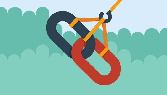 Ilustração de correntes linkadas representa o SEO