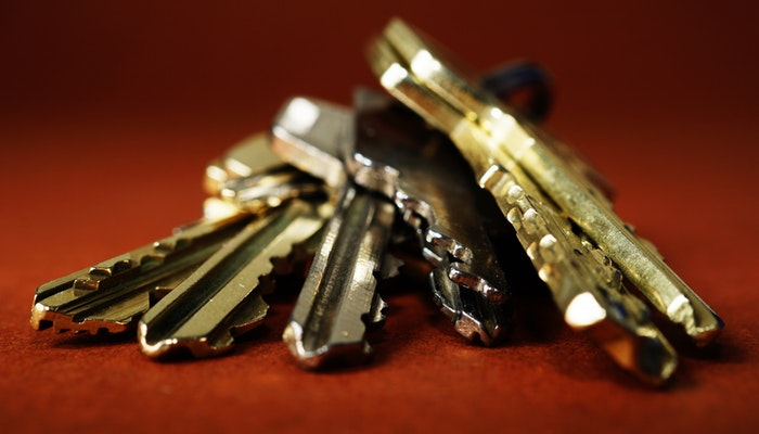 Imagem mostrando um molho de chaves representando um selo de segurança.